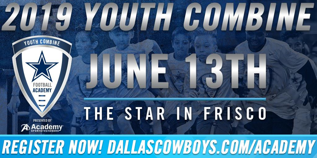 Register today for the #DallasCowboys Football Academy's Youth Combine at @ATTStadium! This camp offers coaching from former NFL players & lessons in teamwork, dedication, & character, giving campers an educational & memorable experience.  → http://bit.ly/30EgVN0