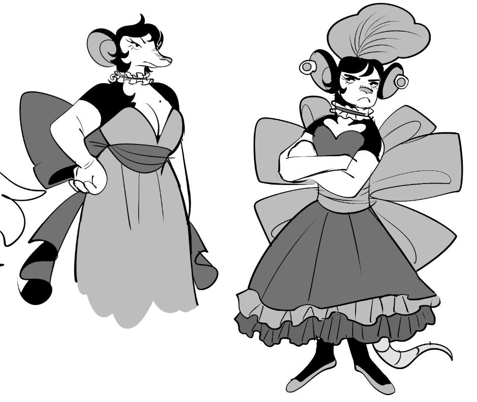 tryin to design a rat lady who&#39;d work for rosemary <br>http://pic.twitter.com/De67kF3YbU