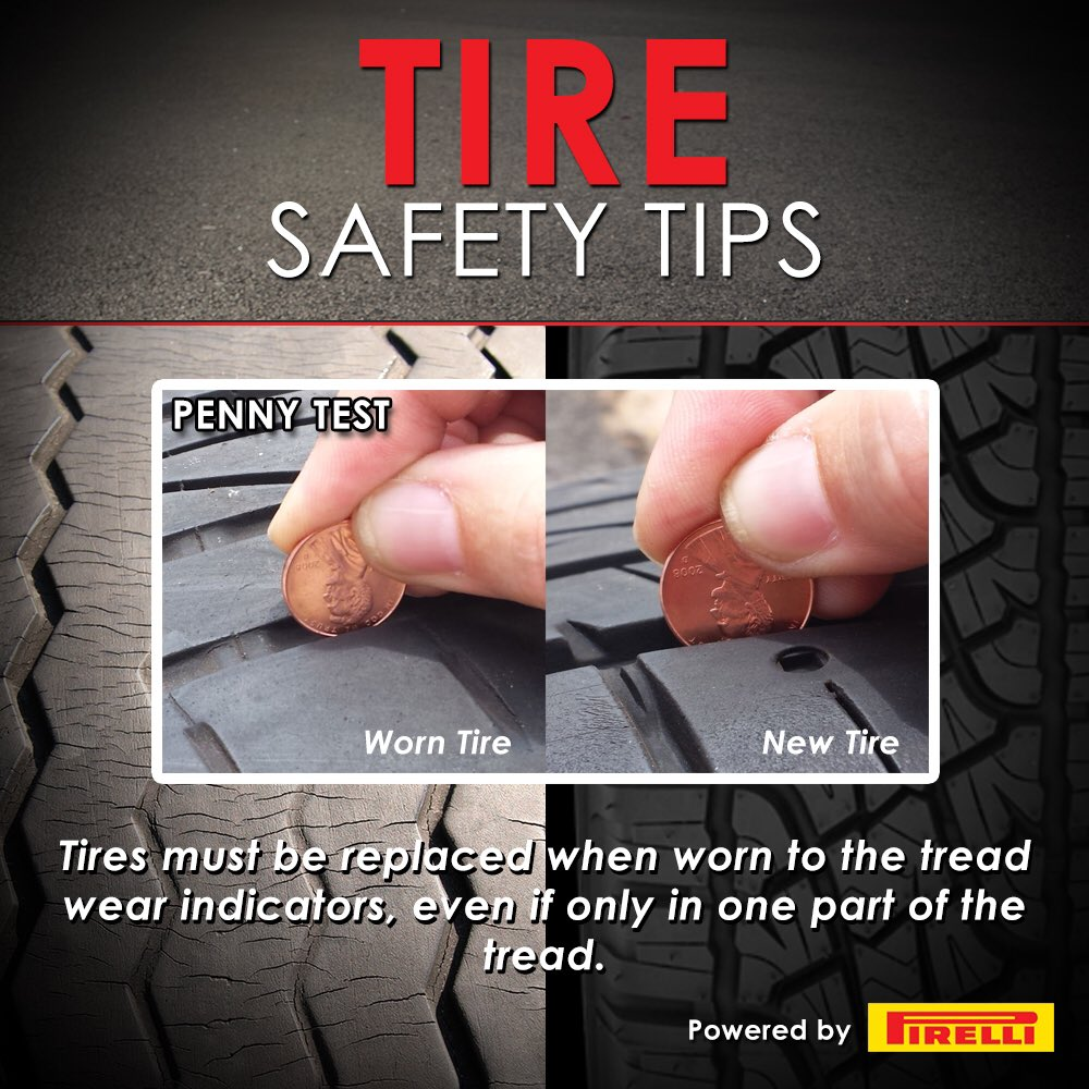Do you #KnowYourRoll? For National Tire Safety Week we urge drivers to check for tire wear at least once a month with this simple test! @USTireAssoc #NTSW2019