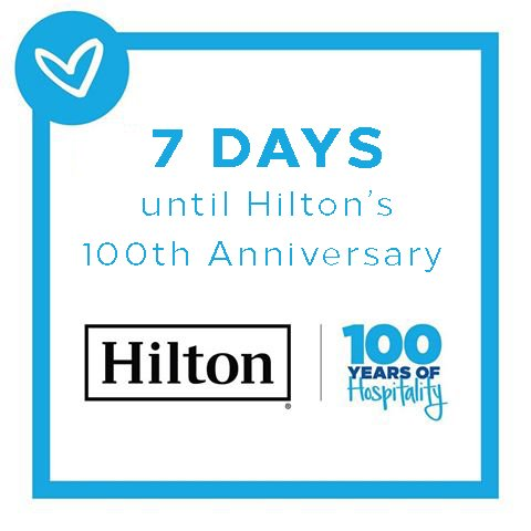 7 DAYS TO GO #HILTON100 @hiltonnewsroom @Hilton @Hiltonhonors https://t.co/D7Oac9SZYE