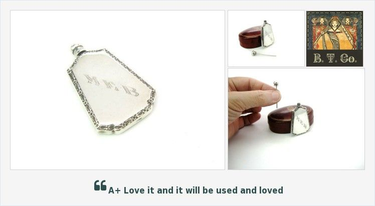 Sterling Silver Perfume Bottle, Art Deco Mini Flask w/ Dopper, Signed Webster Co., Vintage American Vanity #perfume #etsy #etsymntt #etsychaching #vogueteam #vanity #StPatricks #collectibles #fashion https://buff.ly/2HHUhfW