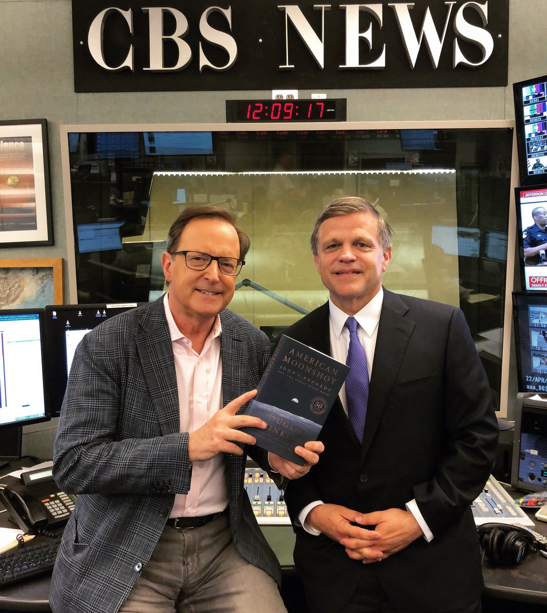 """A conversation w/@ProfDBrinkley on his fascinating book """"American Moonshot: John F Kennedy & the Great Space Race"""" - tmrw on the @CBSThisMorning Podcast!"""