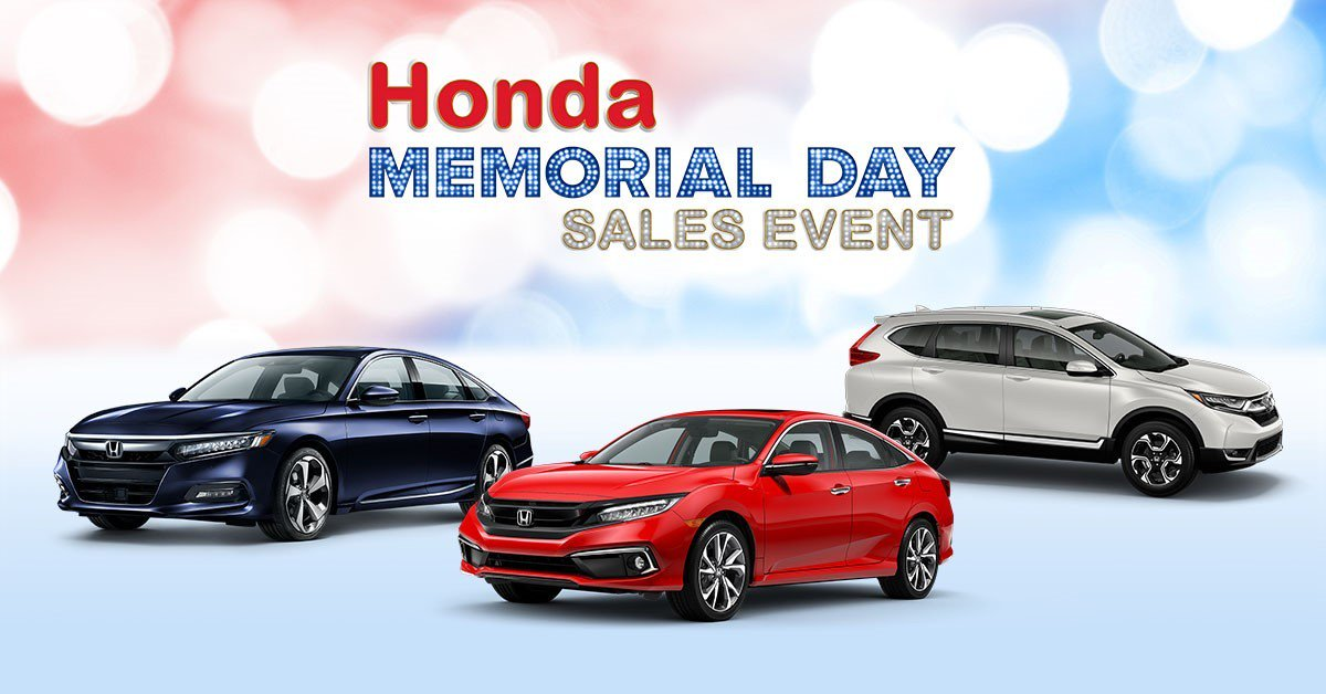 This Memorial Day, you could get a deal at Thurston Honda.