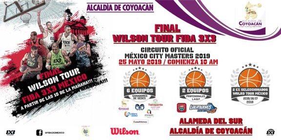 """No te puedes perder la final """"Wilson Tour Fiba 3x3"""" Alameda del Sur 25 de mayo 10:00 hrs¡No faltes!"""