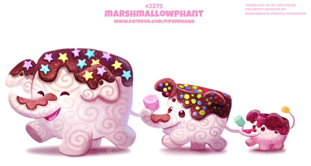 Daily Paint 2375. Marshmallowphant Prints available at:  http:// ForgePublishing.com  &nbsp;                                               For full res WIPs, art, videos and more:  https://www. patreon.com/piperdraws  &nbsp;  <br>http://pic.twitter.com/gxtFiCrIpr