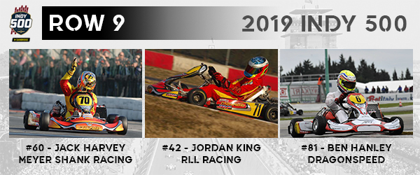 Let's have a look at Row 9 for this year's #Indy500. It's filled with three extremely quick Brits - @jack_harvey42, @42jordanking and @benhanley85. All three drivers drove for Maranello at one time.  Full #IndyKart500 Grid: https://ekartingnews.com/2019/05/22/2019-indianapolis-500-grid-the-ekn-version/…