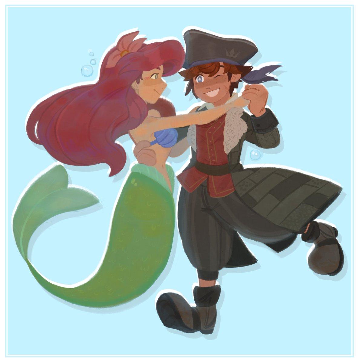 Sharing the finished Sora Ariel design for #mermay ;0   #kh  #kh3<br>http://pic.twitter.com/9cfUR8SKKF