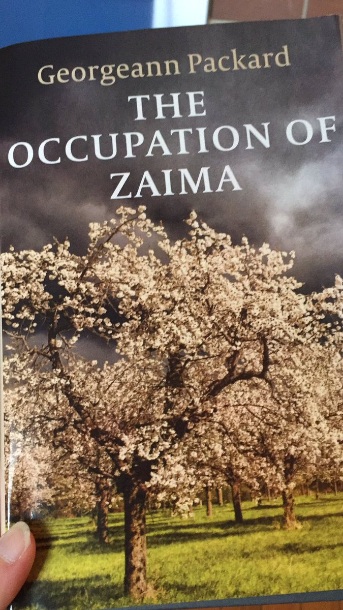 I am reading THE OCCUPATION OF ZAIMA by Georgeann Packard. #fridayreads <br>http://pic.twitter.com/sOmw8g7Dks
