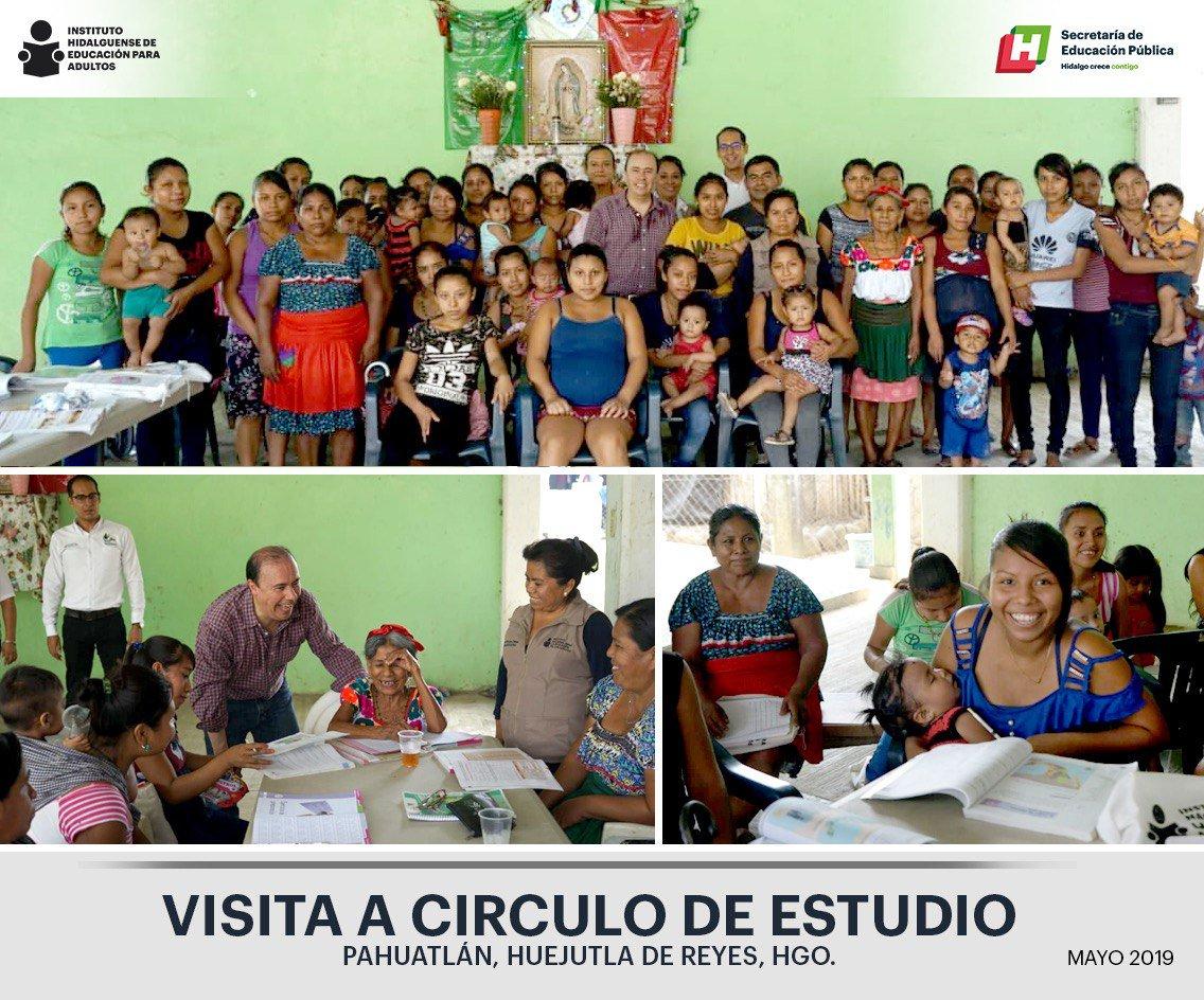 @victorbautist realiza visita de supervisión a círculo de estudio Pahuatlán, Hgo.