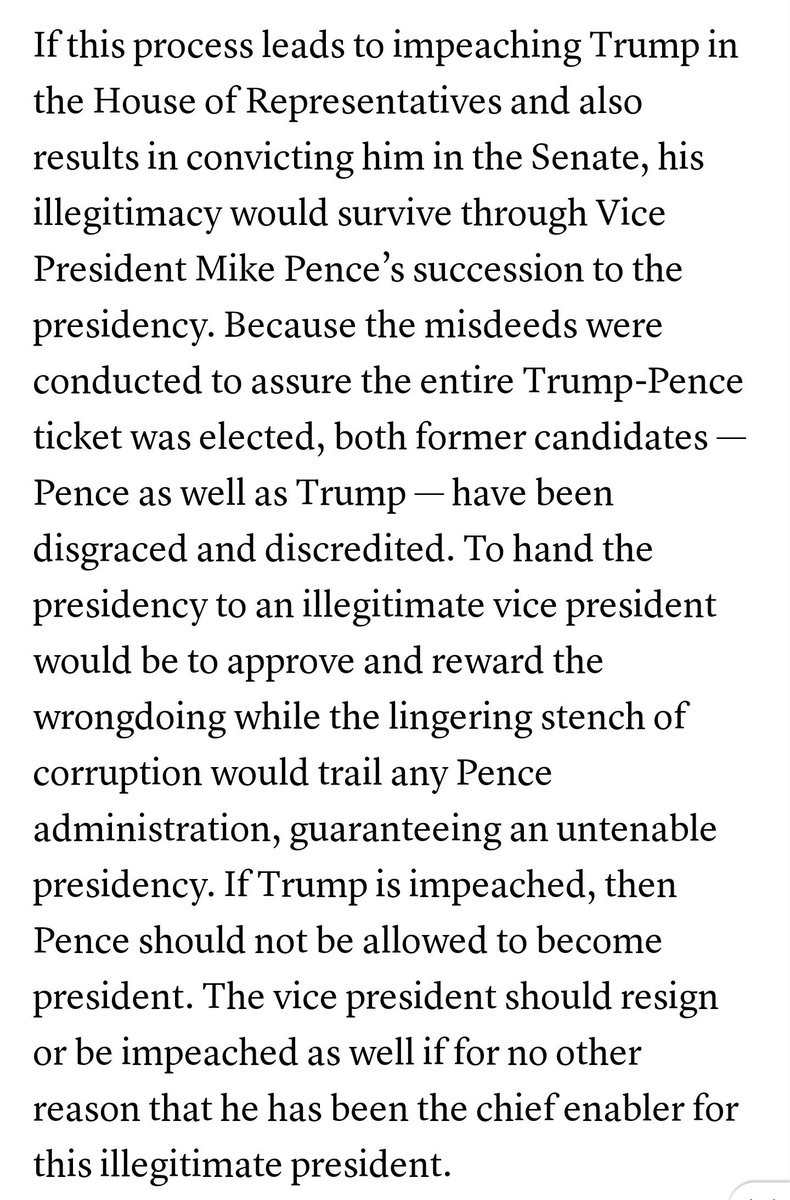 This former GOP official from Missouri makes an excellent case for impeachment in general and also tackles the Pence problem  https:// amp.kansascity.com/opinion/reader s-opinion/guest-commentary/article230713224.html?__twitter_impression=true &nbsp; … <br>http://pic.twitter.com/RJrrYsPy2g