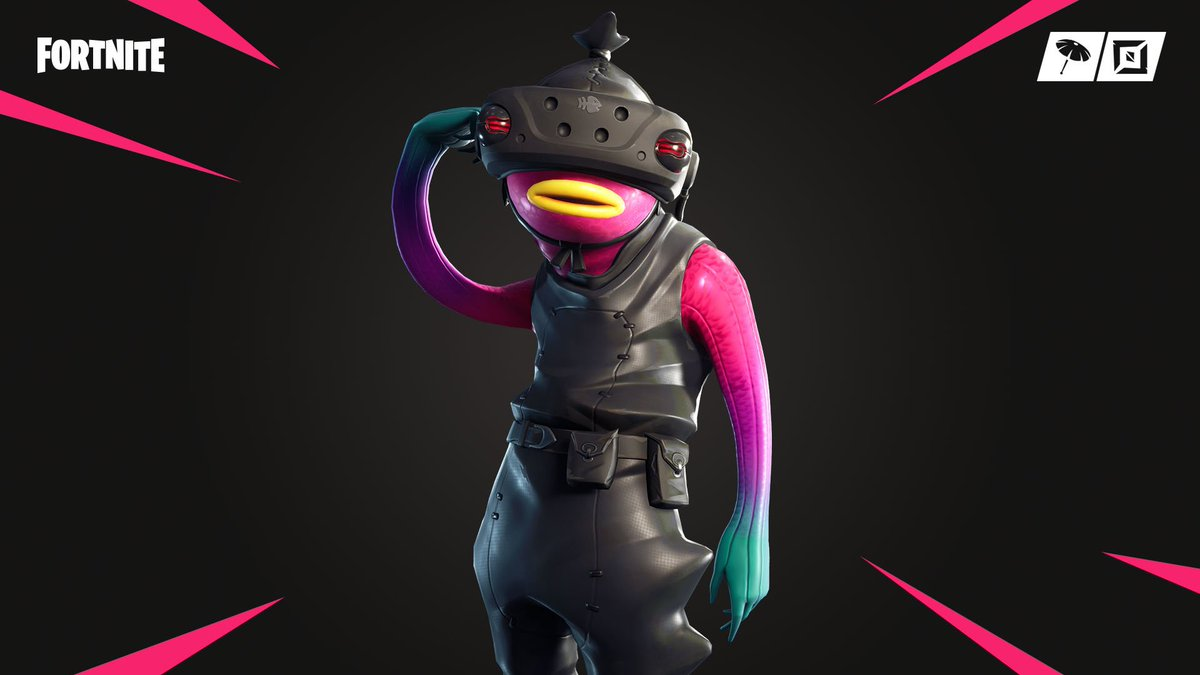 The future is Fishstick   Grab the Fish Food Set with the new VR Style in the Item Shop now! The new Slippery, Fish Face and Fishy Wraps are also available.<br>http://pic.twitter.com/gmvm2Y200a