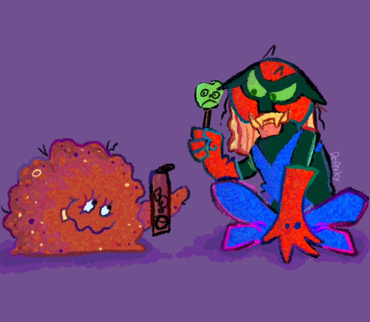 Wanted to draw more ATHF and Space Ghost guys together so now I present: BRAK AND MEATWAD BEST FRIENDS FOREVER <br>http://pic.twitter.com/Bz02FlLEZG