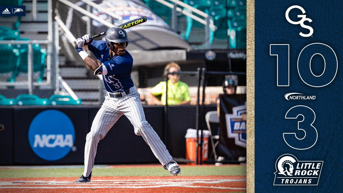EAGLES WIN!!!  GS downs Little Rock to book a spot in Saturday Morning&#39;s 9 a.m. semifinal  #HailSouthern<br>http://pic.twitter.com/LBW06Bmw6G