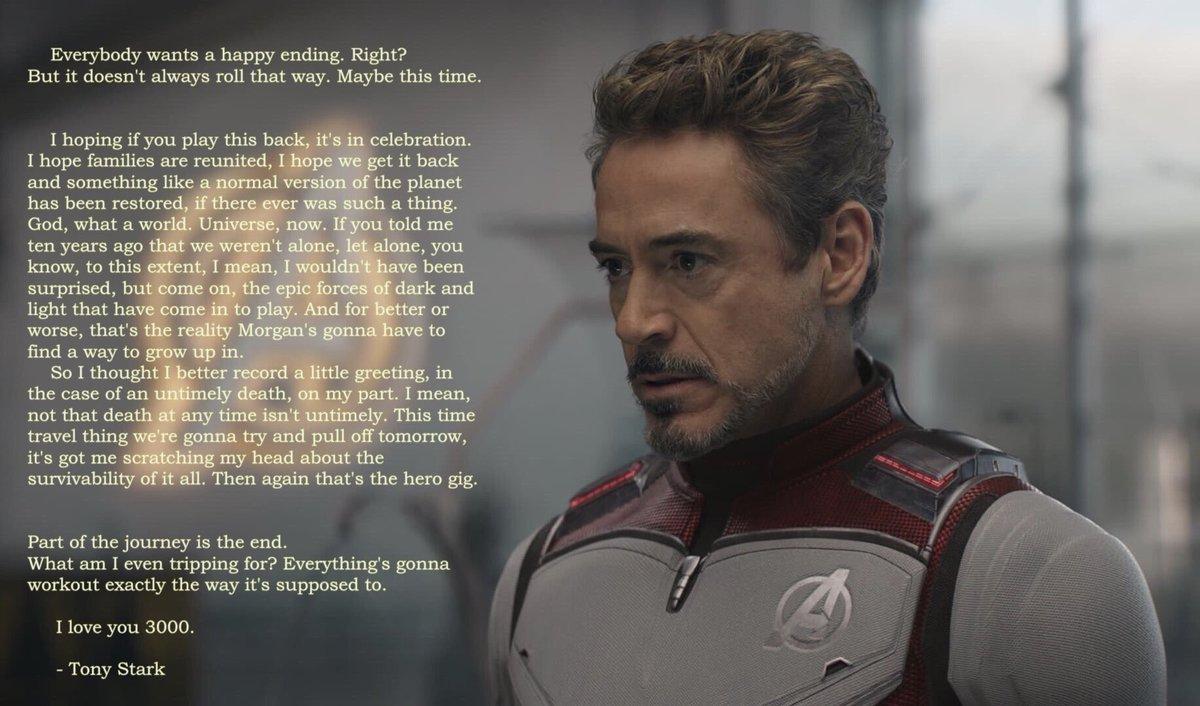 Tony Stark's last message #AvengersEndgame #Marvel #MCU #IronMan