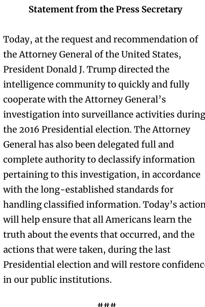 BREAKING:  more on @realDonaldTrump directive on declassification -<br>http://pic.twitter.com/7vUQ2WoCSP