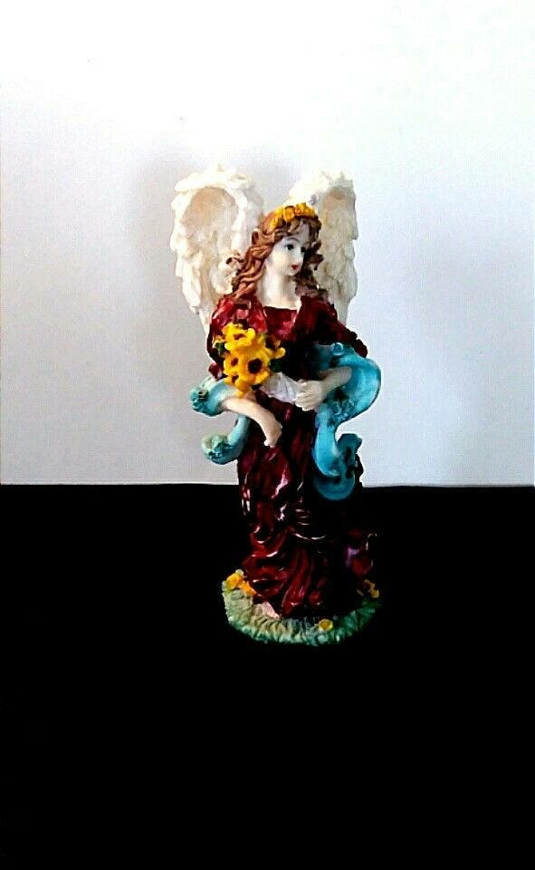 """Excited to share the latest addition to my #etsy shop: Tall resin angel figurine, 9"""" tall, religious decor #vintage #collectibles #baptism #vintageangel #angelfigurine #collectibleangel https://etsy.me/2wmrsOV"""