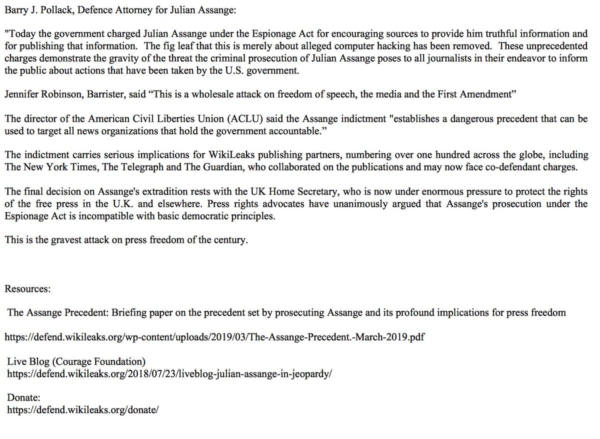 Julian Assange Charged Under The Espionage Act On 17 Counts plus more D7SveeDW4AEn1_p