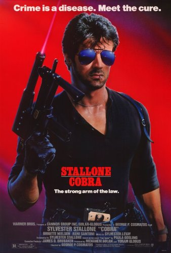 The action flick &quot;Cobra&quot; was released in theatres today in 1986.  The film stars  Sylvester Stallone and Brigitte Nielsen and debuted at No. 1 at the box office and was a huge financial success. #80s #80smovies<br>http://pic.twitter.com/nU64lcLrg9
