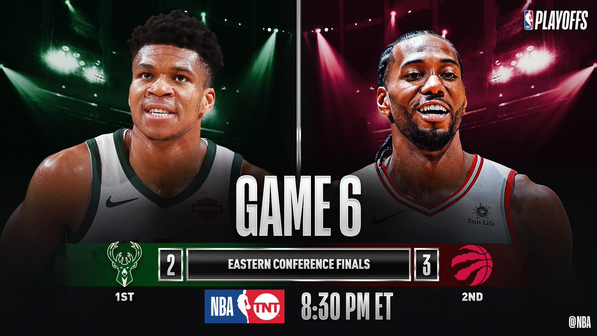 SATURDAY'S #NBAPlayoffs CLASH!8:30pm/et: (1) MIL 2-3 (2) TOR, TNT