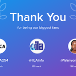 Our biggest fans this week: KETCA254, IILAinfo, WanyonyiEmma. Thank you! via https://t.co/WE80TROtWi