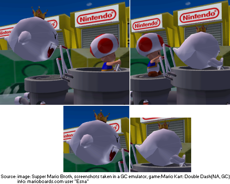 In Mario Kart: Double Dash, King Boo changes sizes whenever