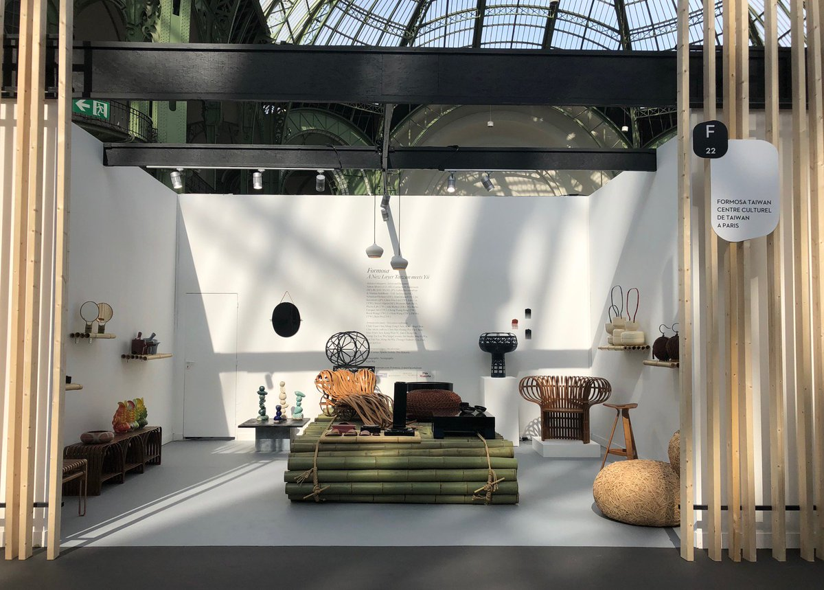 #Taiwanese craftsmanship with #bamboo, #lacquer, and #ceramics shine at French biennial #SalonRévélations @revelationsfair! The #Taiwan pavilion at F22 will be merrily staged through May 26 in #Paris. https://english.moc.gov.tw/information_316_99072.html…
