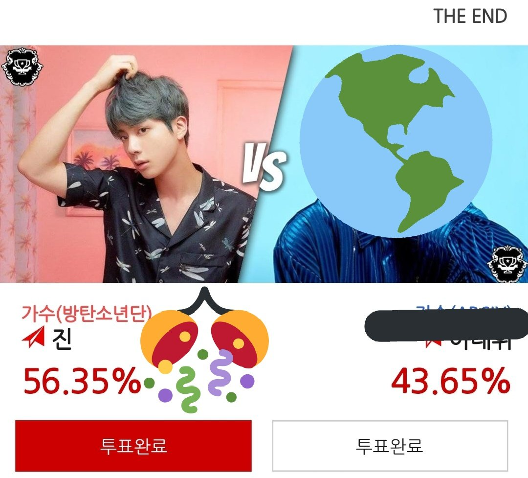 Congratulations Jin won! Thanks to everyone who voted! Jin won this round&#39;s ot256 poll after successfully eliminating 255 competitors! Jin&#39;s banner will be put on their main page and he will get articles for this  Thanks everyone!  #BTS #JIN #Seokjin #방탄소년단 #진 #김석진<br>http://pic.twitter.com/eI6LOk7vcg