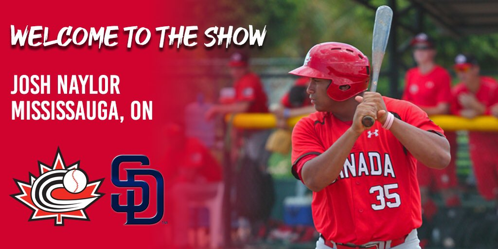 BREAKING: Mississauga's Josh Naylor (@JoshNaylor44) is set to make his #MLB debut in Toronto this weekend and will become the 10th Canadian-born player to appear in the big leagues in 2019!  Congrats, Josh!   <br>http://pic.twitter.com/5vK2c36SW2