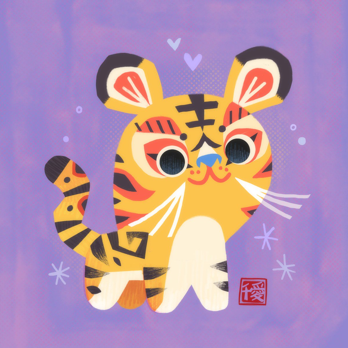 originally tried to draw this with a chinese tiger doll aesthetic but couldn't achieve the look i wanted 😅\\