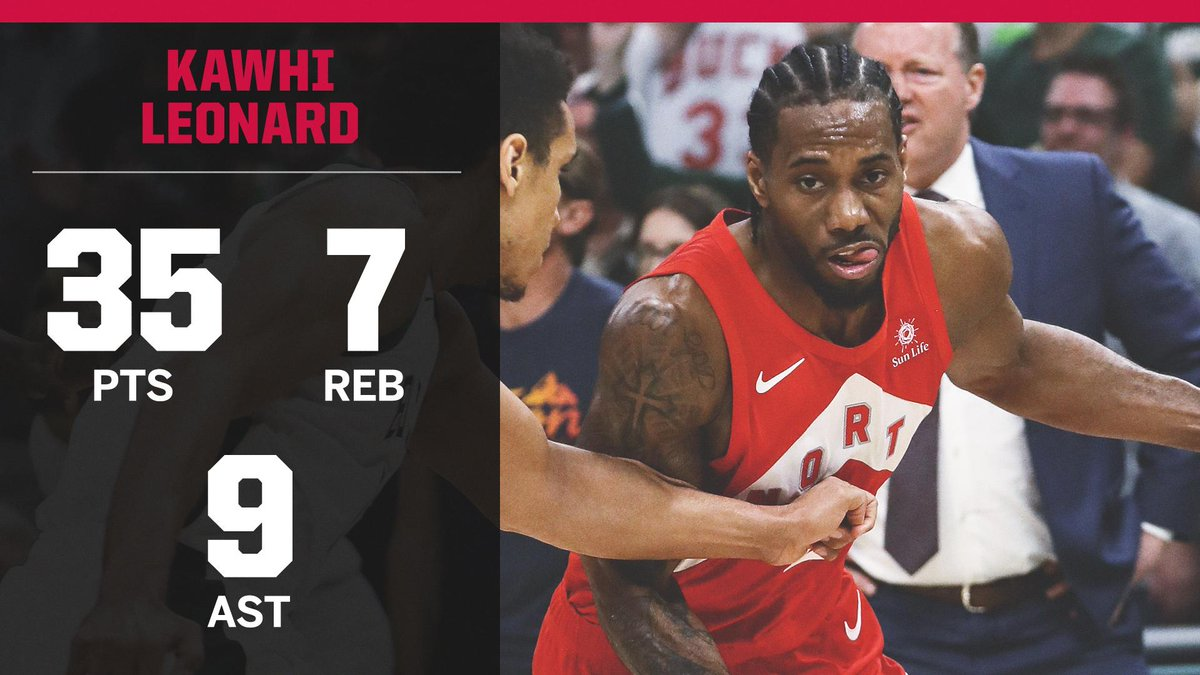 BIG GAME KAWHI 🔥  Kawhi Leonard scored or assisted on 62 points, the most in any game of his career.