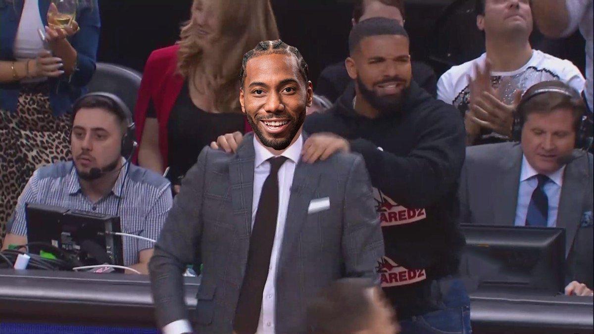 &quot;Just 1 more win Kawhi.&quot; #NBAPlayoffs <br>http://pic.twitter.com/QWDVTJuuAQ