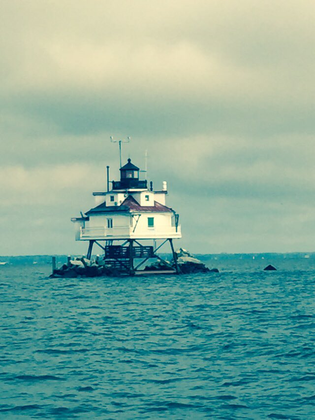 And since we're focusing on Thomas Point #lighthouse,  I'll re-share a picture and videos I took on September 19, 2015.  The approach to Thomas Point from the M/V Sharps Island, and the Captain circling around the lighthouse and giving a talk about it.