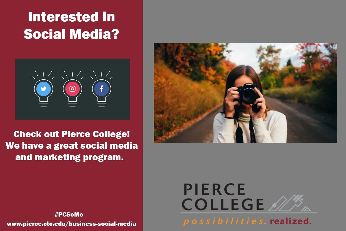 Photographer? Take a look at getting a social media and marketing degree. #PCSome