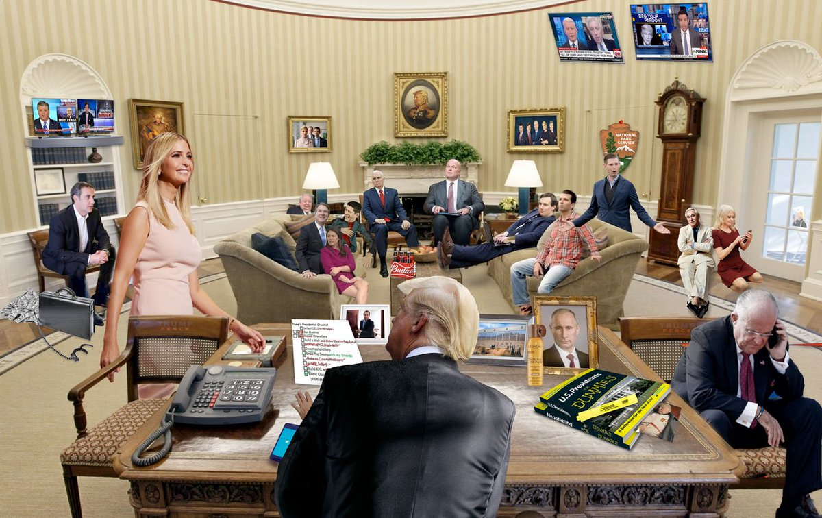 Inside look last month to the Oval #OvalOffice Office hmmmm. Where is Barr <br>http://pic.twitter.com/59K4gTsTbQ