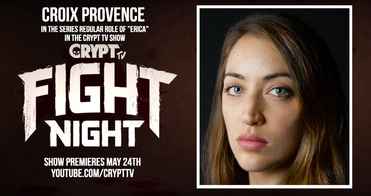 "Are you ready for Monster Brawl?! Catch me as Erica in the awesome new @CryptTV series ""Fight Night"", premiering at 1:00pm today! 😃💕  WARNING: Blood, gore, language, and bad-assery  https://www.youtube.com/watch?v=0rBQmwgvCFQ …  #crypttv #fightnight #womeninfilm #badasswomen"