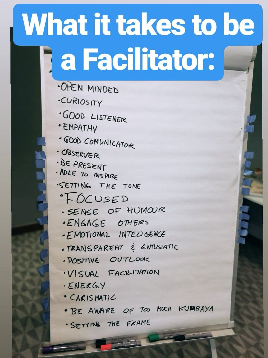 What does it take to be a Facilitator? According to the group present on the first ever @ICAgile-certified Agile Team Facilitator in #Lisbon, by @agileadventures, this is it! What do you think?  #facilitation #team #agile #people