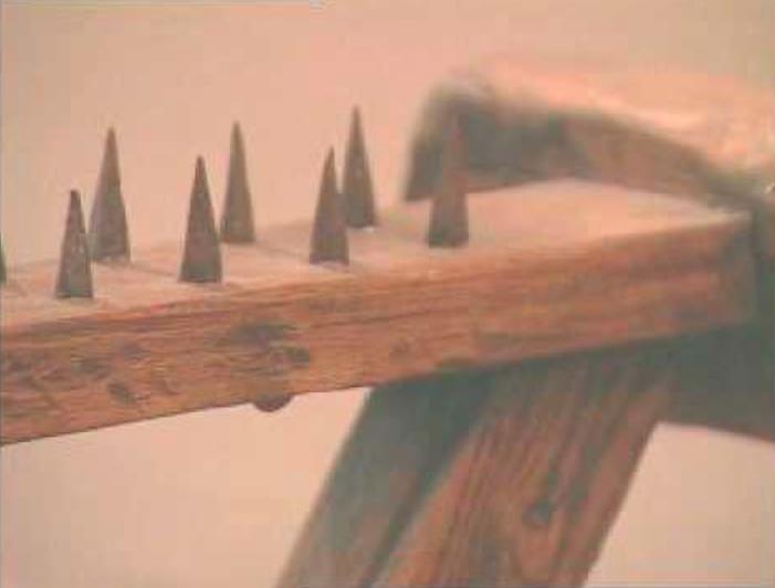 El dicho TE VAS A ENTERAR DE LO QUE VALE UN PEINE no se refiere al utensilio que sirve para arreglarnos el pelo, sino a un instrumento de tortura usado en el Medievo que tenía unas púas de hierro que desollaban vivo al reo. De ahí la variante «saber cuántas púas tiene un peine».