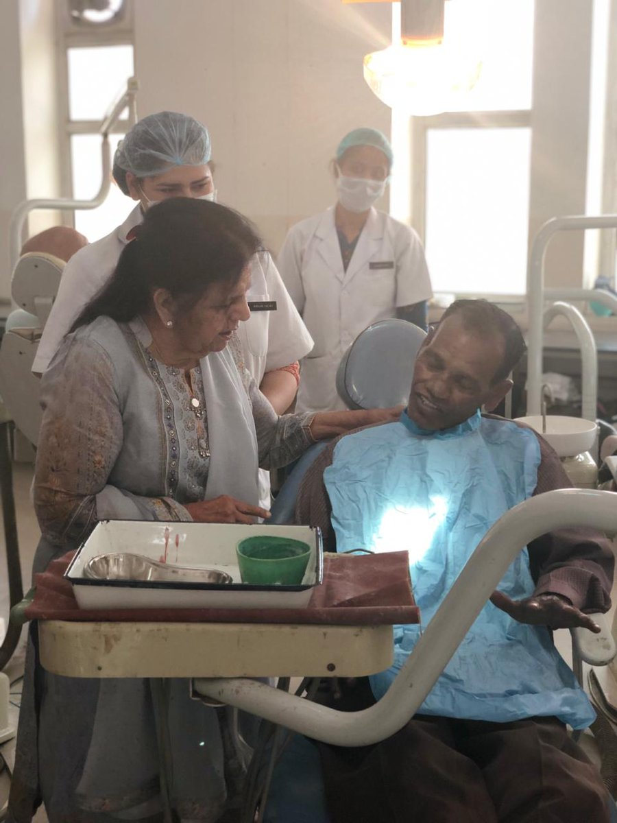 The 6th Free #DentureDeliveryProgramme was organized in the remembrance of the founder visionary Dr O P Bhalla on May 24, 2019 by the Department of #Prosthodontics in collaboration with Department of #PublicHealthDentistry, #ManavRachna Dental College.