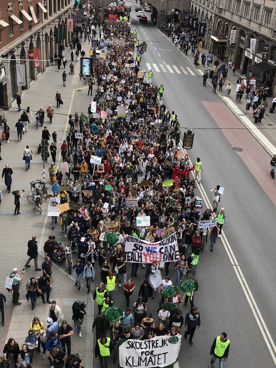 Stockholm right now. #FridaysforFuture #SchoolStrike4Climate