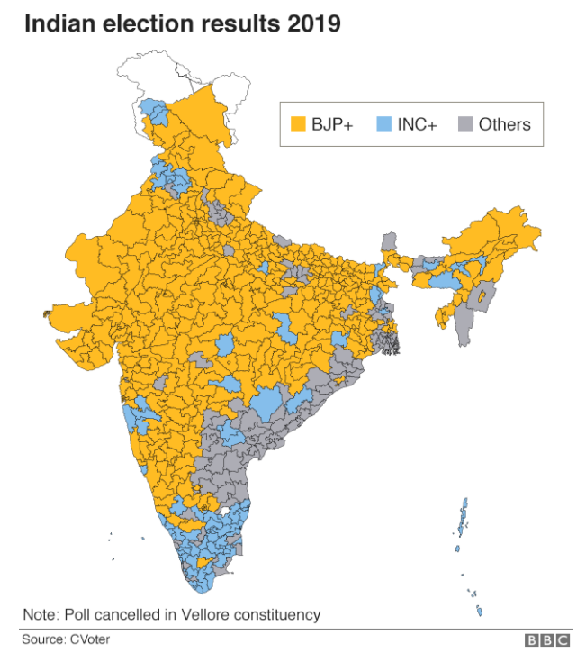 The main takeaways of the 2019 Indian election in graphics: https://bbc.in/2M8iFLx