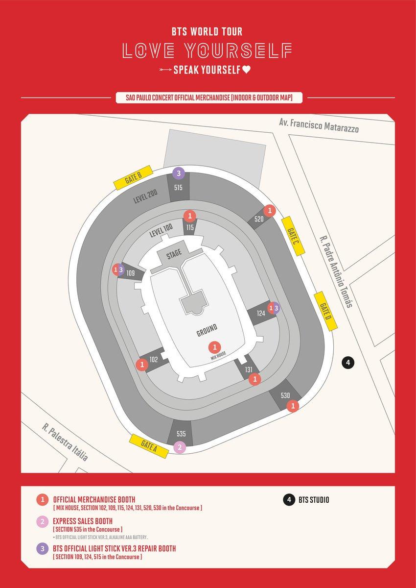 [공지] #BTS WORLD TOUR 'SPEAK YOURSELF' SAO PAULO 공연 공식 MD 판매 및 BTS STUDIO 운영 안내 (+ENG)(https://facebook.com/story.php?story_fbid=2739395246075720&id=561348433880423…)