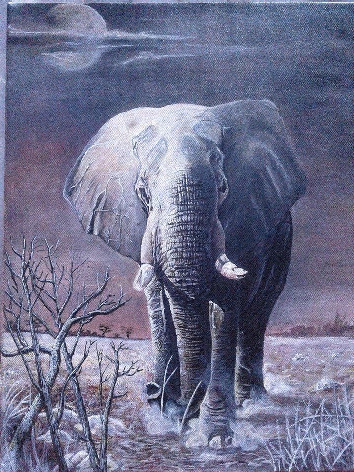THE LONE RANGER 400 × 500 mm Acrylic on canvas Not framed #CayisohArt 2017<br>http://pic.twitter.com/gkklfQ1B82