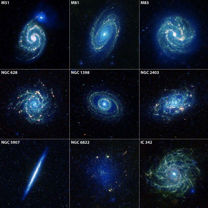 Elípticas, espirales,lenticulares, irregulares, activas... El universo está habitado por infinidad de galaxias de diferentes formas.