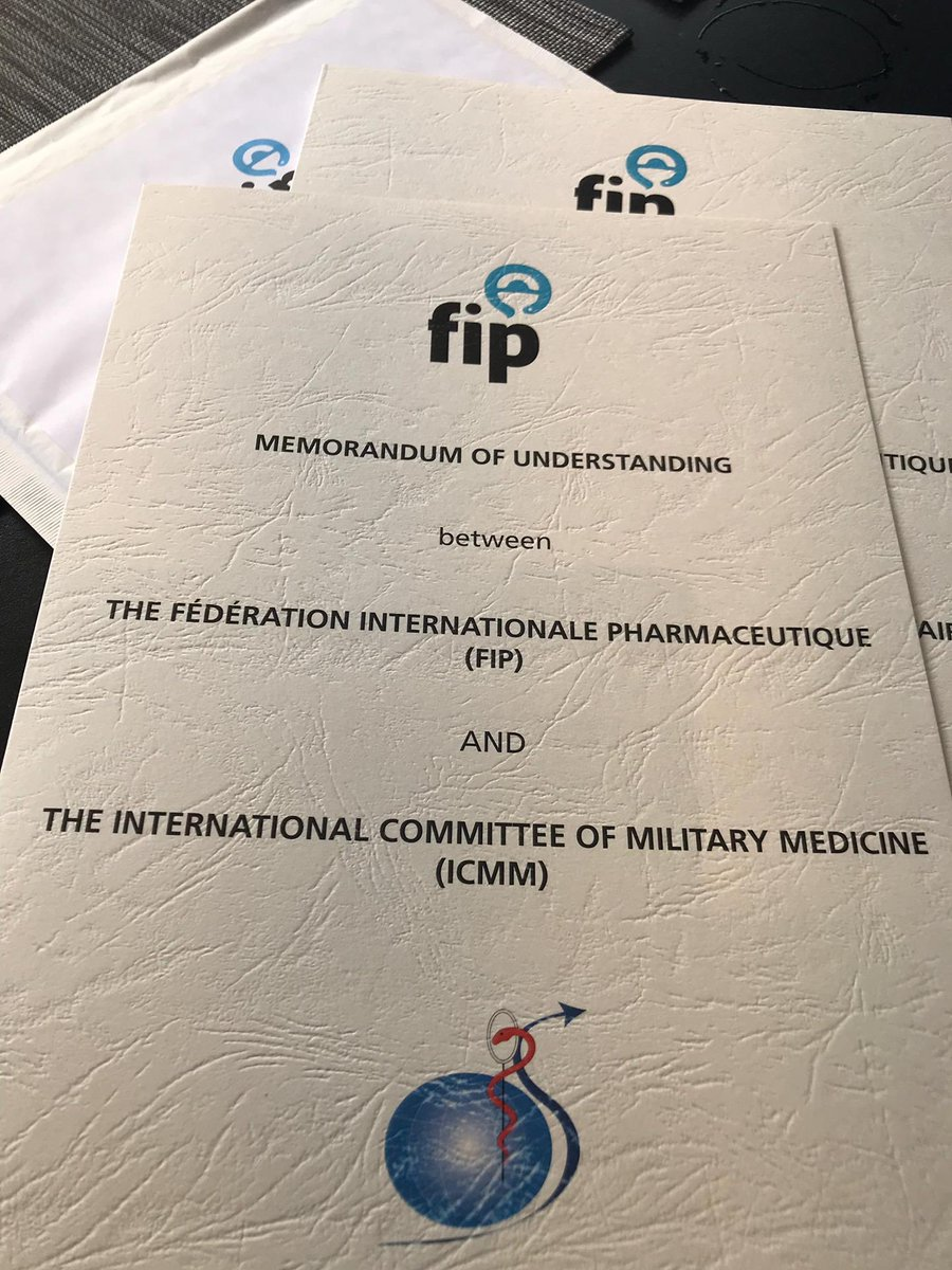 Yesterday was an exciting day of accomplishments for @FIP_org! In Basel, we had signed another MOU with the International Committee of Military Medicine). #FIP #HealthForAll #EmergencyMedicine #ICMM #MilitaryMedicine <br>http://pic.twitter.com/JG64k1KqQF