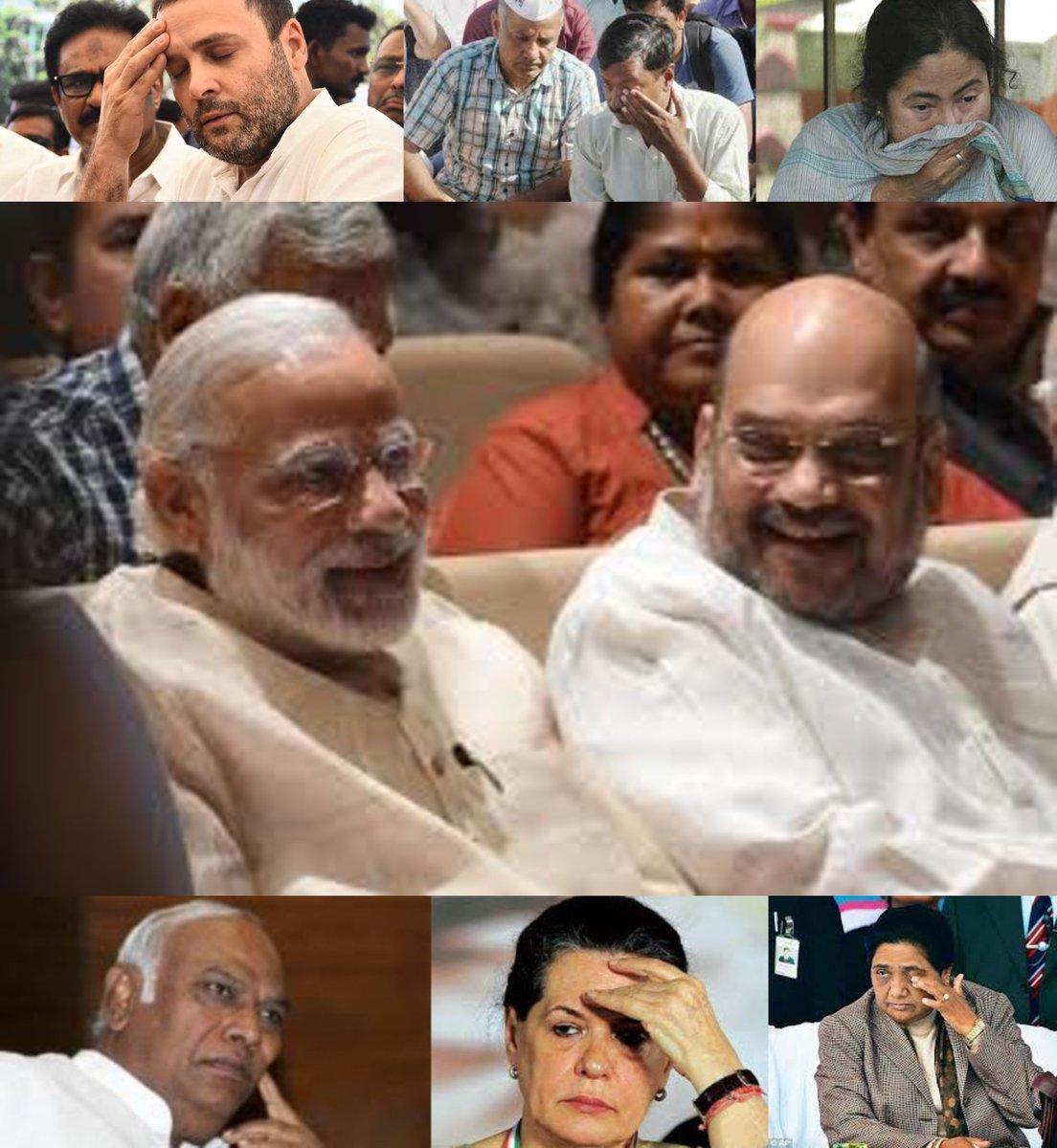 """कितने आदमी थे?"" ""सरदार 2! एक PM Modi और दूसरा Amit Shah!' ""अरे ओ सांबा, पूरा का पूरा धो डाला क्या...?"" 😃 #IndiaDecides2019 #IndiaDecides #ModiPhirSe #ModiSweep #ModiReturns #ModiTsunami #TsuNaMo #TsuNaMo2019"