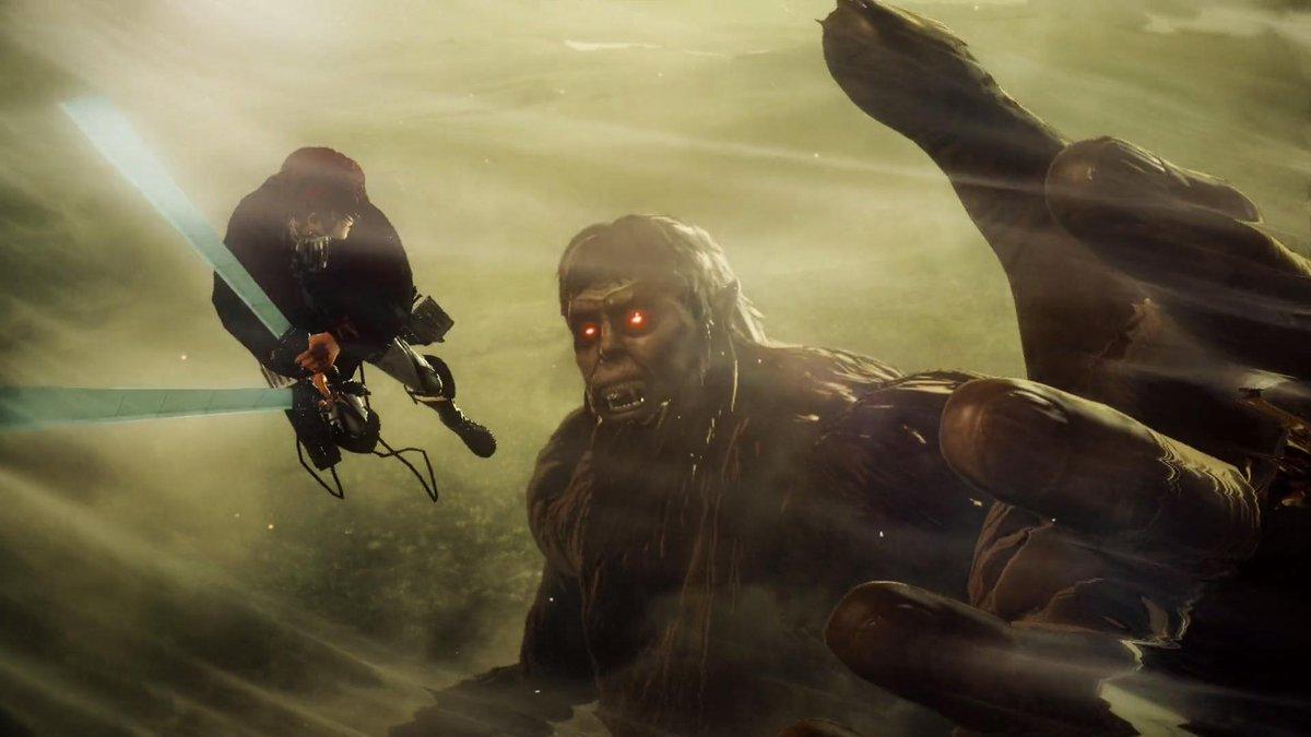 ゲーム 進撃の巨人2 Final Battle 公式 Ar Twitter アニメの名シーンをゲームで再現 Season3 Part 2第5話のリヴァイが獣の巨人に斬りかかるシーンです こいつが リヴァイか 公式サイトもチェック T Co Pdxrh2cq5k Shingeki 進撃の