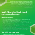 Image for the Tweet beginning: NEO Global Development (NGD) is