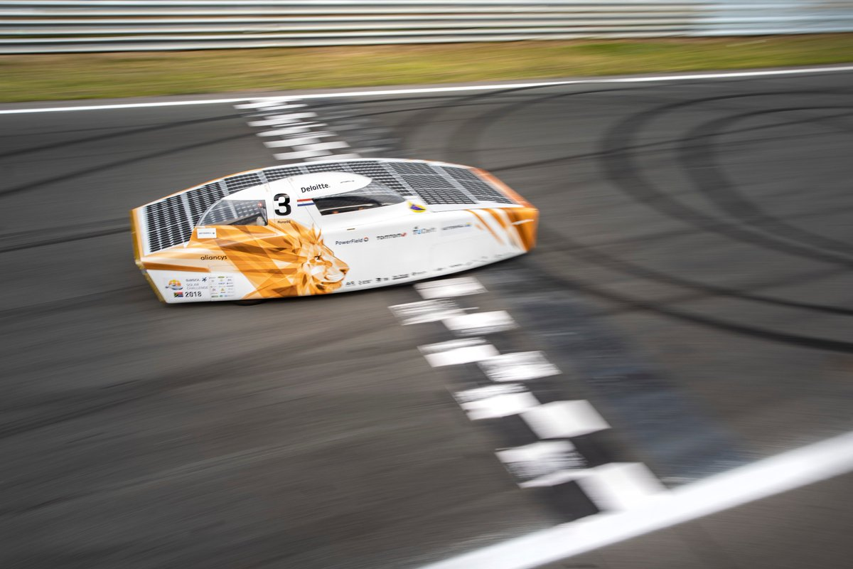 We have a new record! Nuna has set the fastest time for a solar car on Circuit Zandvoort. With a time of 3 minutes, 21 seconds and 44 hundredths, we will appear on the list of lap records of Circuit Zandvoort! #itspossible #NunaX #vattenfallsolarteam #DutchGP 📸@hapevv