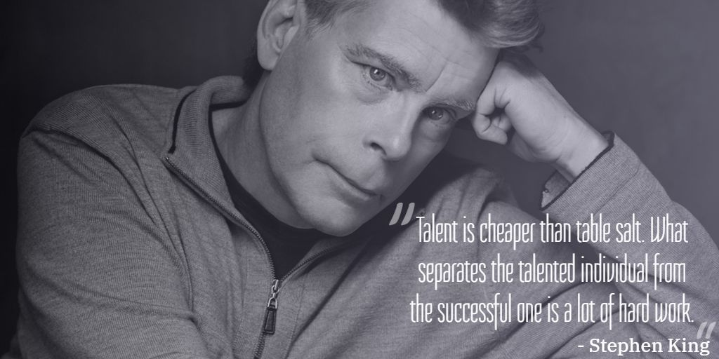 Hustle hard till you get what you aspire! 🙌🔥 Beautifully quoted by @StephenKing   #freelancer #motivation #remotework #hustlehard