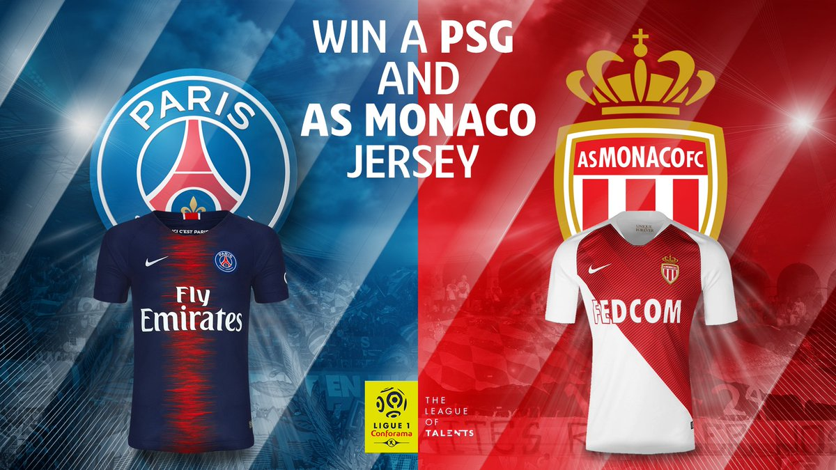 Competition | We have teamed up with our friends at Ligue 1 to give you the chance to win a PSG & AS Monaco shirt!   To put yourself in contention, simply:  1 | Follow @GFFN 2 | Follow @Ligue1_ENG  3 | Retweet this Tweet  Good luck - we will make the draw on 31st May at 19:00 CET https://t.co/4X7OKRw8kH